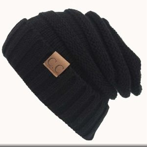 Accessories - Restocked NEW Black Slouch beanie knit winter hats